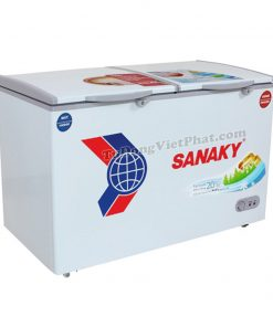 Tủ đông mini Sanaky VH-2599W1, 2 ngăn 195L dàn đồng
