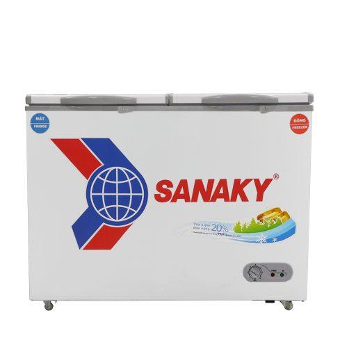 Tủ đông Sanaky VH-2599W1, tủ mini 2 ngăn 195L dàn đồng