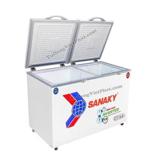 Tủ đông mini Sanaky VH-2299W3, Inverter 170L 2 ngăn