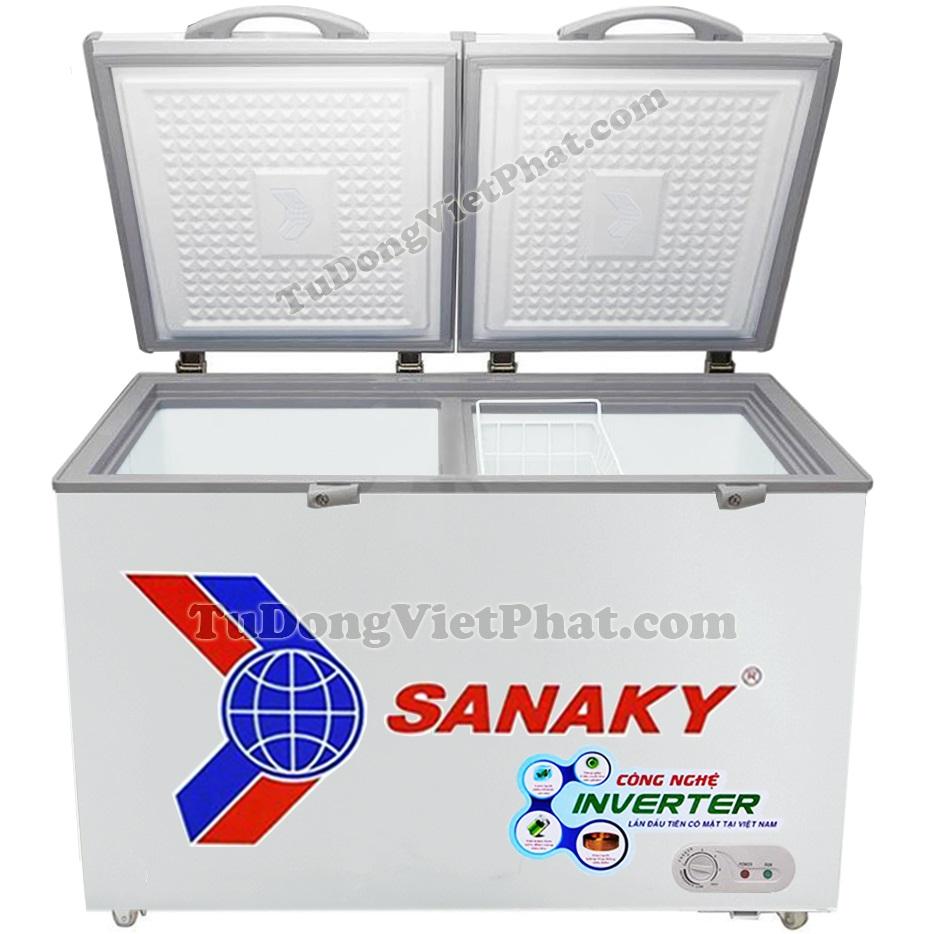 Mặt trước tủ đông mini Sanaky VH-2299A3, Inverter