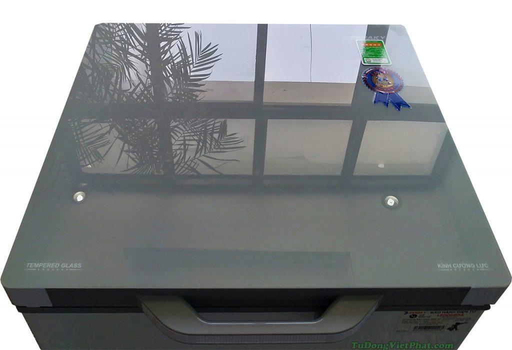 Mặt kính xám của tủ đông VH-1599HYK