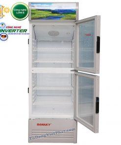 Tủ mát Sanaky VH-218W3L, 200 lít Inverter 2 cánh trên dưới
