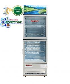Tủ mát Sanaky VH-308W3L, 300 lít Inverter 2 cánh trên dưới
