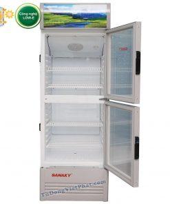 Tủ mát Sanaky VH-308WL, 300 lít 2 cánh trên dưới