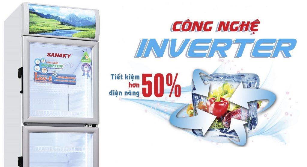 Tủ mát Sanaky 350L VH-358W3L công nghệ tiết kiệm điện Inverter