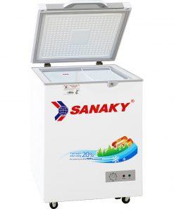 Tủ đông mini 100L Sanaky VH-1599HYK mặt kính xám
