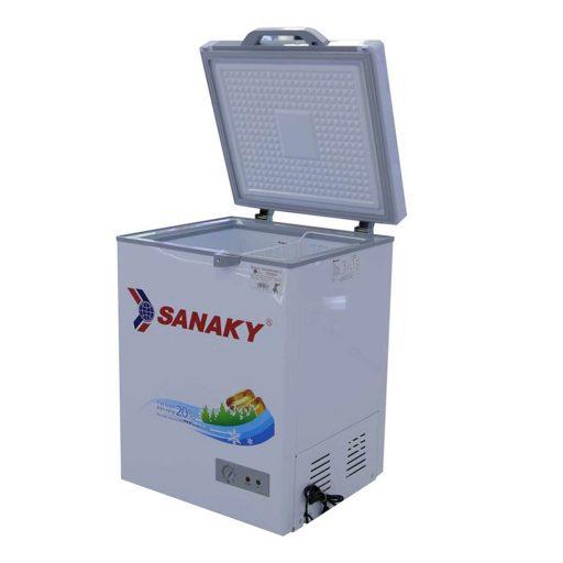 Tủ đông mini 100L Sanaky VH-1599HYKD mặt kính xanh