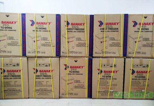 Tủ đông Sanaky 100L VH-1599HYKD mặt kính xanh ngọc