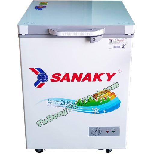 Tủ đông Sanaky 100L VH-1599HYKD mặt kính xanh