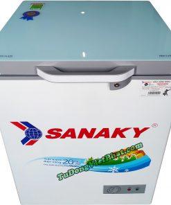 Tủ đông Sanaky 100 lít VH-1599HYKD mặt kính xanh