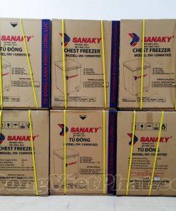Tủ đông Sanaky 100L VH-1599HYK mặt kính xám
