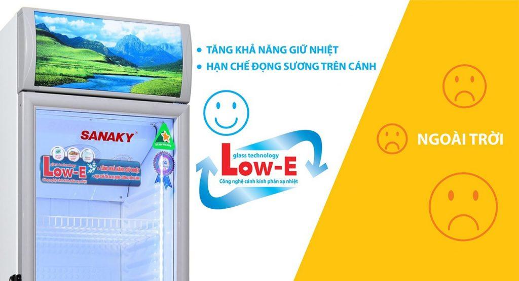 Tủ mát Sanaky VH-168KL, 130 lít kính công nghệ Low-E