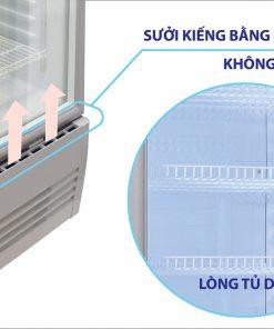 Tủ mát Sanaky VH-258K3L sấy kính bằng khí nóng