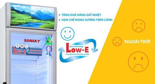Tủ mát Sanaky VH-258KL, 200 lít kính công nghệ Low-E