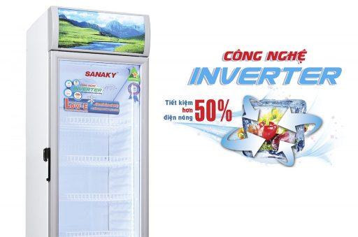 Tủ mát Sanaky 300L VH-308K3L công nghệ tiết kiệm điện Inverter