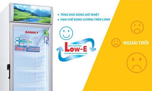 Tủ mát Sanaky 300L VH-308K3L kính công nghệ Low-E