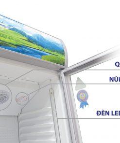 Tủ mát Sanaky 300L VH-308K3L dễ dàng điều khiển