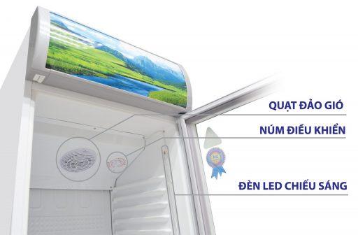 Điều khiển và đèn LED của tủ Sanaky 300L VH-308KL