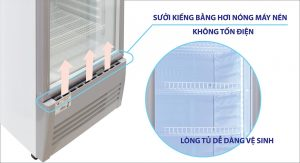 Tủ mát Sanaky 400l VH-408K3L sưởi kính bằng khí nóng