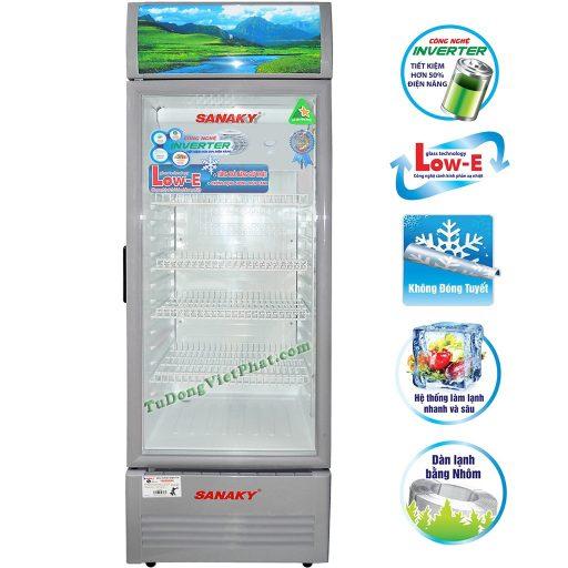 Tủ mát Sanaky VH-218K3L, 170 lít Inverter công nghệ Low-E
