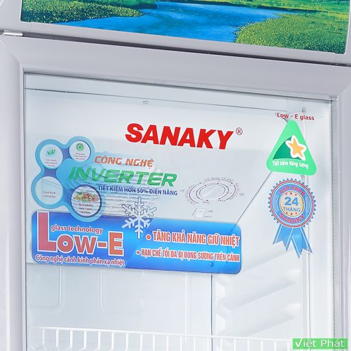 Tủ mát Sanaky VH-218K3L, Inverter công nghệ Low-E