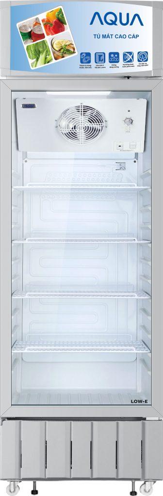 Tủ mát AQUA AQS-F368S, 300 lít kháng khuẩn LOW-E