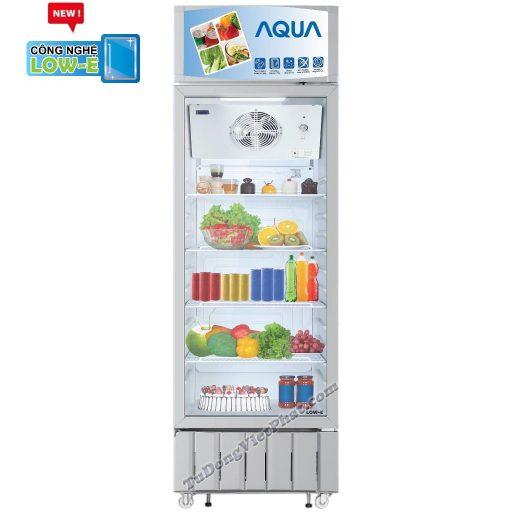 Tủ mát AQUA AQS-F418S, 340 lít kháng khuẩn LOW-E