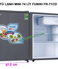 Kích thước tủ lạnh Funiki FR-71CD tủ mini 74 lít
