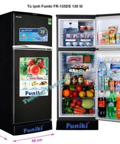 Kích thước tủ lạnh Funiki FR-135DS tủ mini 130 lít