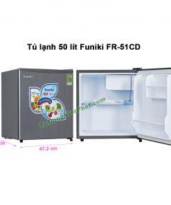 Kích thước tủ lạnh Funiki FR-51CD tủ mini 50 lít
