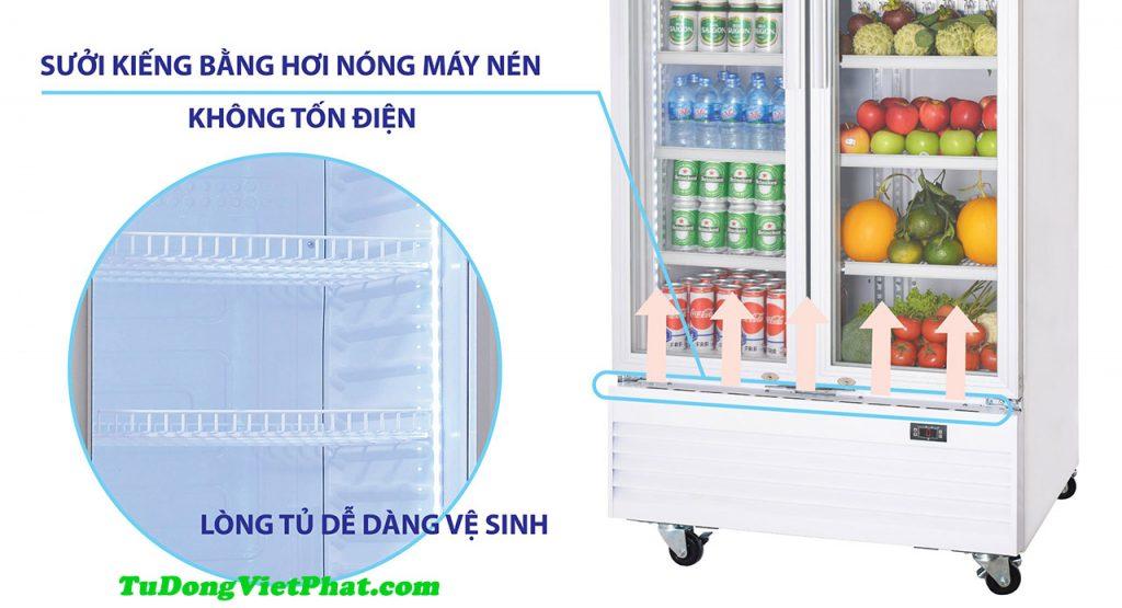 Hệ thống sấy kính tủ Mát Sanaky VH-6009HP