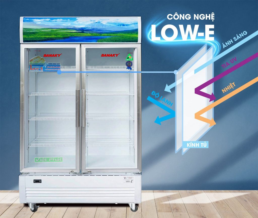 Tủ Mát Sanaky VH-6009HP công nghệ Low-E