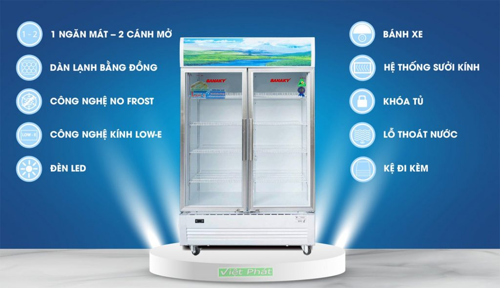 Tính năng của tủ Mát Sanaky VH-6009HP