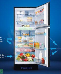 Bên trong tủ lạnh Funiki INVERTER FRI-216ISU 209 lít
