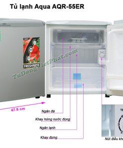 Kích thước tủ lạnh mini AQUA 50 Lít AQR-55ER
