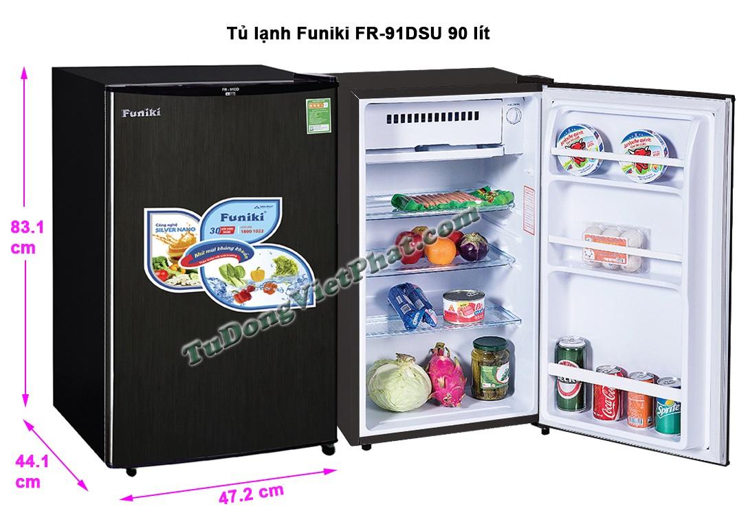 Tủ lạnh Funiki FR-91DSU tủ mini 90 lít Chính hãng
