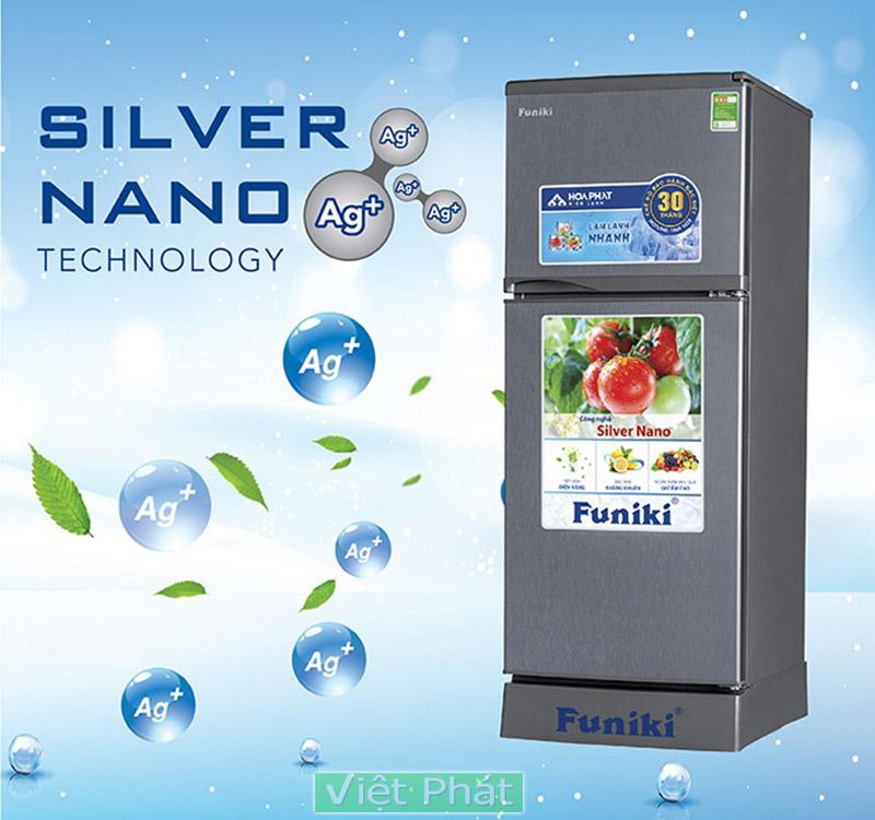 Tủ lạnh Funiki FR-125CI kháng khuẩn Nao bạc