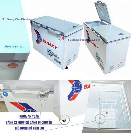 Các tiện ích của tủ đông Sanaky INVERTER VH-3699W4KD