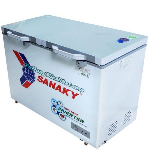 Tủ đông Sanaky INVERTER VH-4099A4KD mặt kính cường lực (xanh)