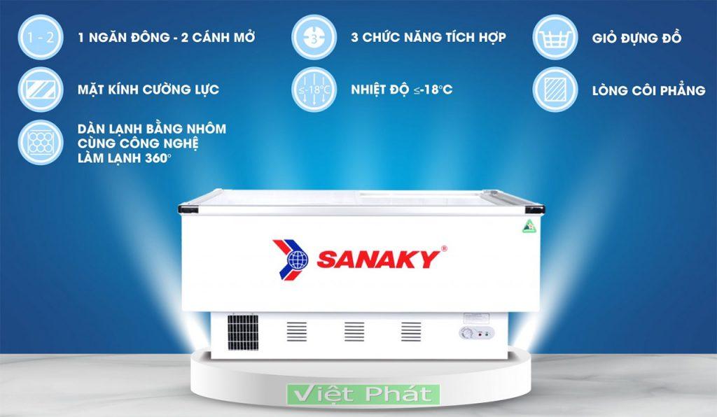 Tính năng của tủ đông Sanaky VH-999K