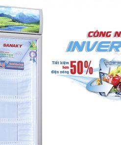 Mặt trước tủ mát Sanaky 300L VH-309K3L Công nghệ Inverter