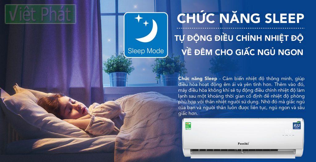 Chức năng SLEEP tiện lợi của điều hòa Funiki