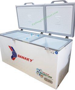 Bên trong tủ đông Sanaky VH-6699W3 485 lít INVERTER 2 ngăn đông mát