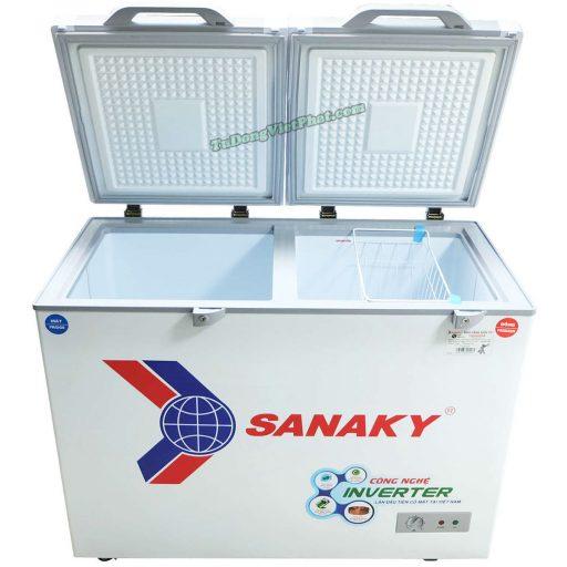 Bên trong tủ đông Sanaky INVERTER VH-2899W4KD