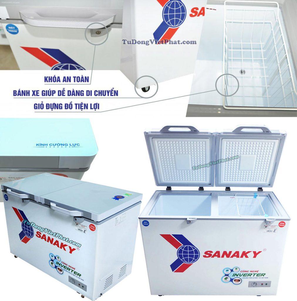 Tiện ích của tủ đông Sanaky INVERTER VH-2899W4KD