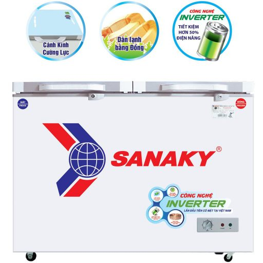 Tủ đông Sanaky INVERTER VH-2899W4KD mặt kính cường lực