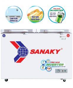 Tủ đông Sanaky INVERTER VH-2599W4KD 2 ngăn đông mát