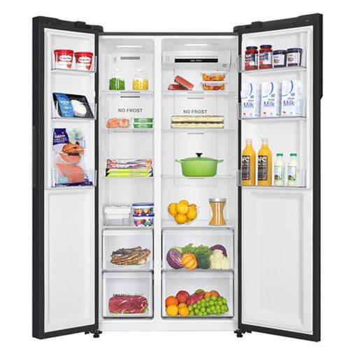 Bên trong tủ lạnh Inverter Aqua AQR-S541XA(BL) 541L