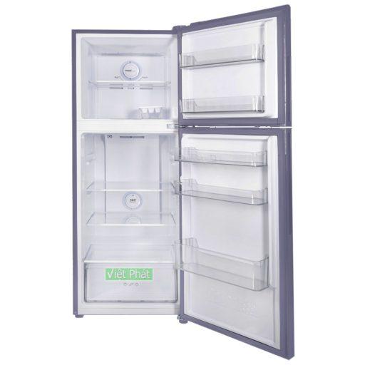 Bên trong tủ lạnh Inverter AQUA 235 Lít AQR-T249MA.SV mầu thép