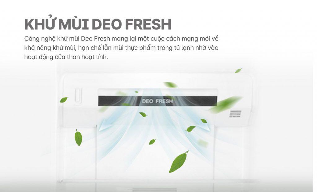 Tủ lạnh Inverter Aqua AQR-S541XA(BL) kháng khuẩn Deo-Fresh